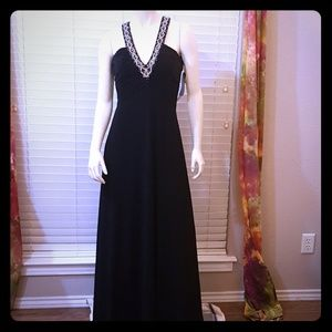 Black Nightway Backless Gown NWT